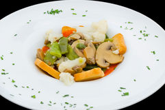 Spring vegetable stew. Royalty Free Stock Photography