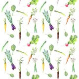 Spring vegetables pattern stock illustration