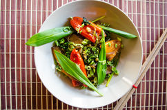 Spring vegetables stirfry Royalty Free Stock Images