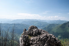 Spring Velka Fatra mountains panorama in Slovakia Stock Images
