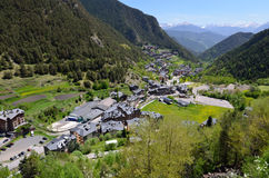 Spring view of Arinsal Royalty Free Stock Photography