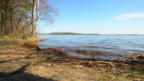 Spring. View on big lake Zhizhitskoye of Pskov region. Russia. Royalty Free Stock Images