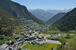 Spring view of the bike resort Arinsal Stock Photography