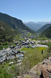Spring view of the bike resort Arinsal Royalty Free Stock Photo