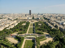 Spring view of the Champ de Mars in Paris. Royalty Free Stock Photos