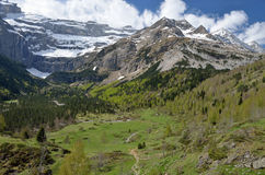 Spring view of the cirque of Gavarnie Royalty Free Stock Image