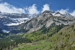 Spring view of the cirque of Gavarnie Royalty Free Stock Images