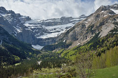 Spring view of the cirque of Gavarnie Royalty Free Stock Photography