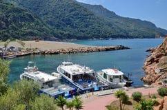 Spring view of the Corsican village Porto Royalty Free Stock Photos