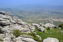 Spring view of El Torcal nature reserve Royalty Free Stock Photography