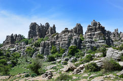Spring view of El Torcal nature reserve Stock Photos