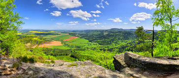 Spring view on the forest and fields Stock Photography