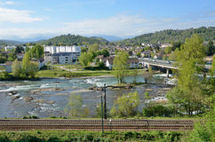 Spring view of the French city Pau Royalty Free Stock Photos
