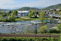Spring view of the French city Pau Royalty Free Stock Photo