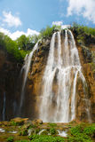 Spring View of Great Waterfall on Plitvice Lakes Royalty Free Stock Photos