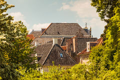 Spring view of the historic Dutch town Zutphen Stock Photography