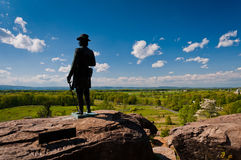 Spring view from Little Roundtop, Gettysburg, Pennsylvania Royalty Free Stock Image