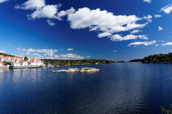Spring view at Norwegian fjord in southern Norway Royalty Free Stock Photography