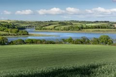 Spring View, Notter Viaduct, River Lynher, Cornwall stock photography