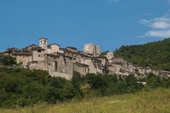 Spring view of Polino in Umbria Stock Photography