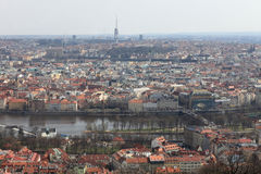 Spring view of Prague Royalty Free Stock Photography