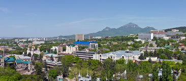 Spring view of Pyatigorsk. Panorama of the historic part of Pyatigorsk stock image