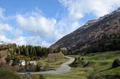 Spring view of the Pyrenees mountains Stock Photography