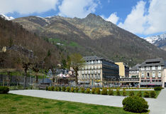Spring view of the spa town Cauterets, French Pyrenees Royalty Free Stock Image