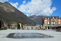 Spring view of the spa town Cauterets, French Pyrenees Stock Photography