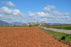 Spring view of the Spanish province Hueska Royalty Free Stock Photos