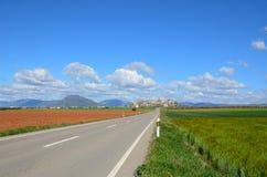 Spring view of the Spanish province Hueska Stock Image