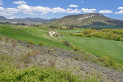 Spring view of the Spanish region Navarra Royalty Free Stock Photos