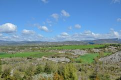 Spring view of the Spanish region Navarra Royalty Free Stock Photos