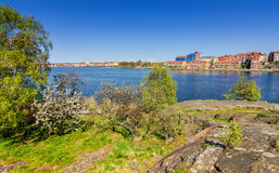 Spring view from Stakholmen island Stock Images