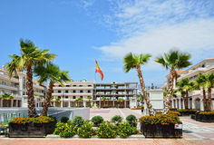 Spring view of sunny Nerja Royalty Free Stock Photography