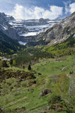 Spring view of the valley of Gavarnie Stock Images