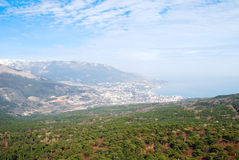 Spring view of Yalta Stock Photo