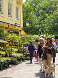 Spring at Viktualien Markt in Munich Stock Photo