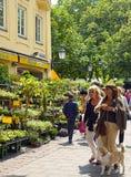 Spring at Viktualien Markt in Munich Stock Photo