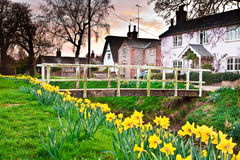 Spring village Stock Photo