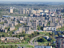 Spring in the Vilnius city - aerial photo Royalty Free Stock Photo