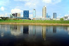 Spring in Vilnius city centre on April 28, 2015 Stock Photos