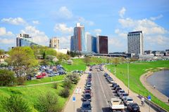 Spring in Vilnius city centre on April 28, 2015 Royalty Free Stock Photo