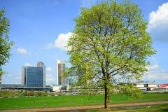 Spring in Vilnius city centre on April 28, 2015 Stock Photo