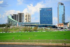 Spring in Vilnius city centre on April 28, 2015 Royalty Free Stock Photos