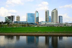 Spring in Vilnius city centre on April 28, 2015 Royalty Free Stock Photography