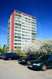 Spring in Vilnius city Karoliniskes residential district Stock Photography