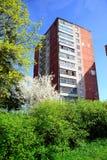 Spring in Vilnius city Karoliniskes residential district Stock Photo