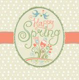Spring vintage card. Royalty Free Stock Photos