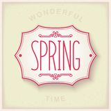 Spring vintage plate Royalty Free Stock Photos